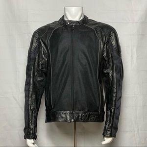 BILT Leather Motorcycle Biker Jacket Moto Bilt